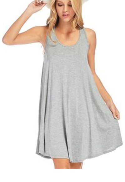 Kixters - Heather Grey Jersey Flare Dress