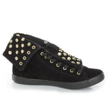 Cute To The Core Thrill - Black High-Top Studded Sneakers