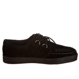 T.U.K Creeper- Black Suede Low-Top Sneaker