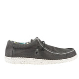 Hey Dude Wally Stretch- Black Woven Fabric Slip-On Sneaker