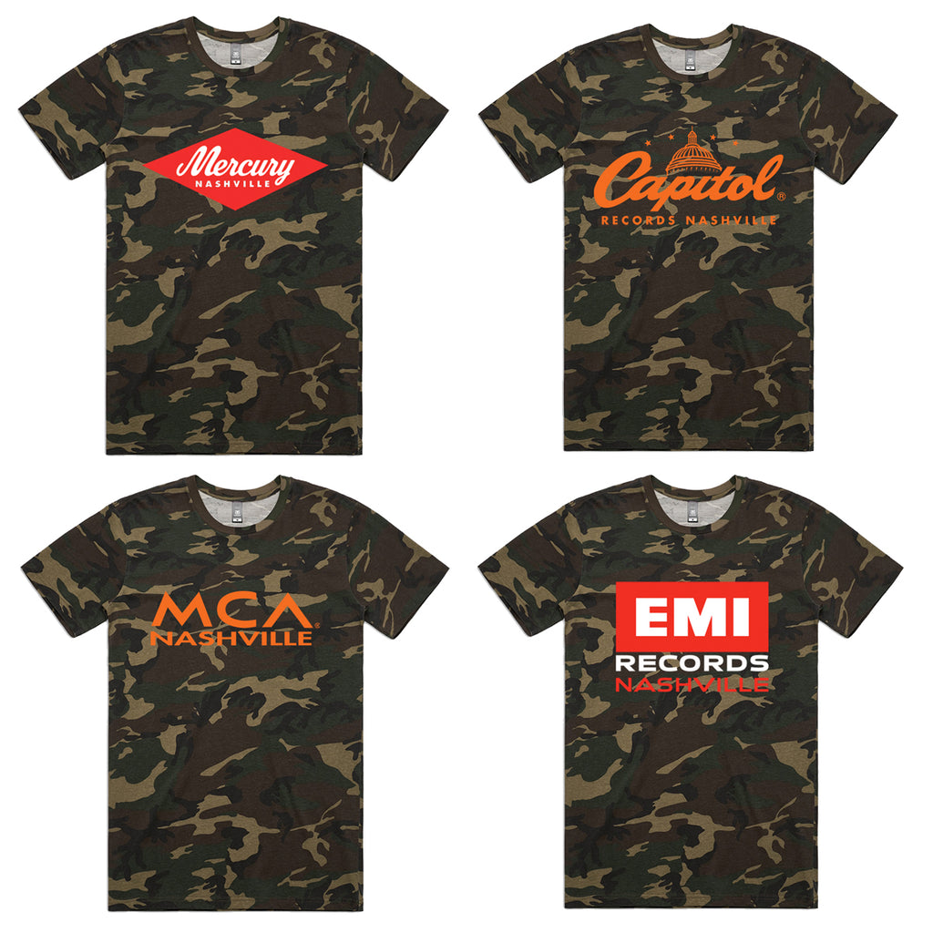Camo UMG Nashville Label T-shirts Package