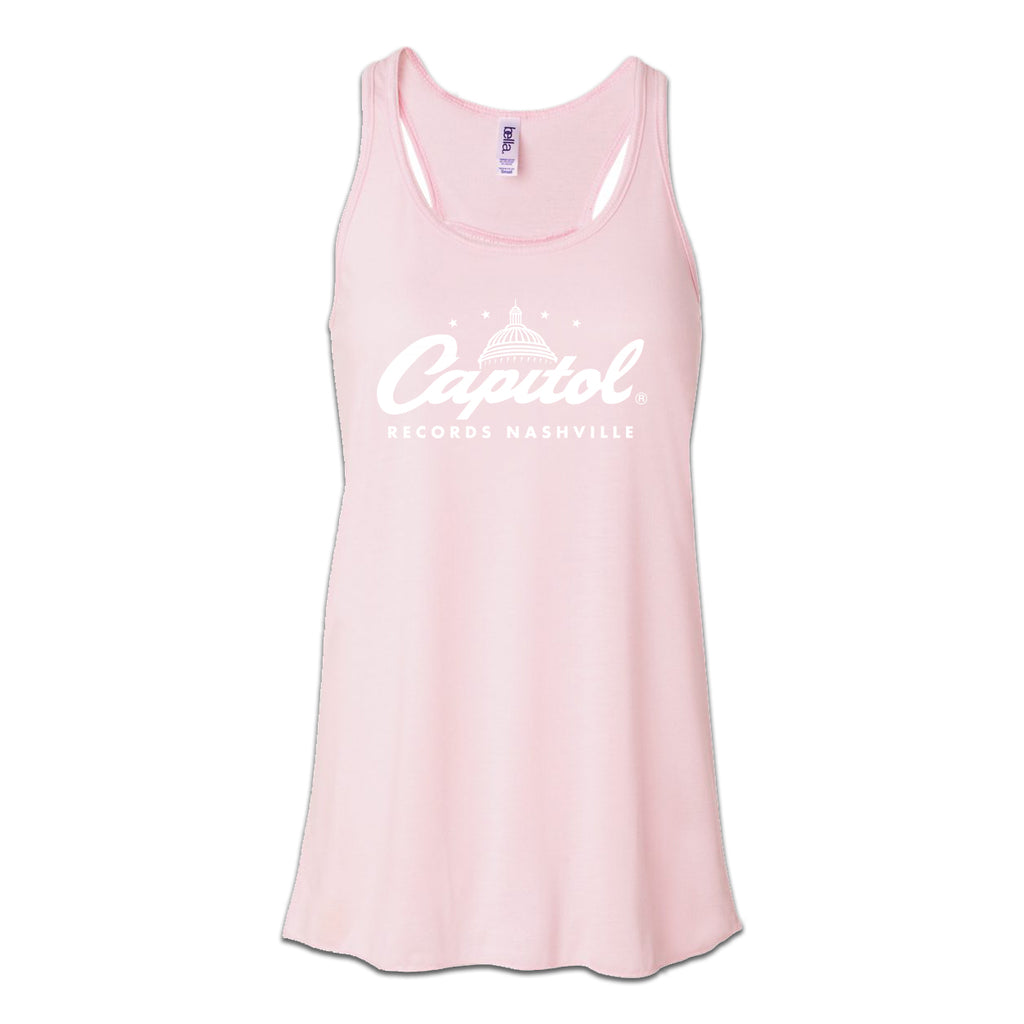 Capitol Records Nashville- Ladies Pink Racerback Tank