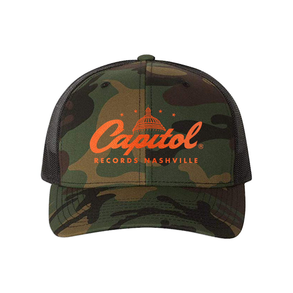 Capitol Records Nashville Camo Trucker Hat
