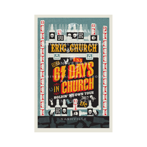 Eric Church - 61 Days of Church Poster