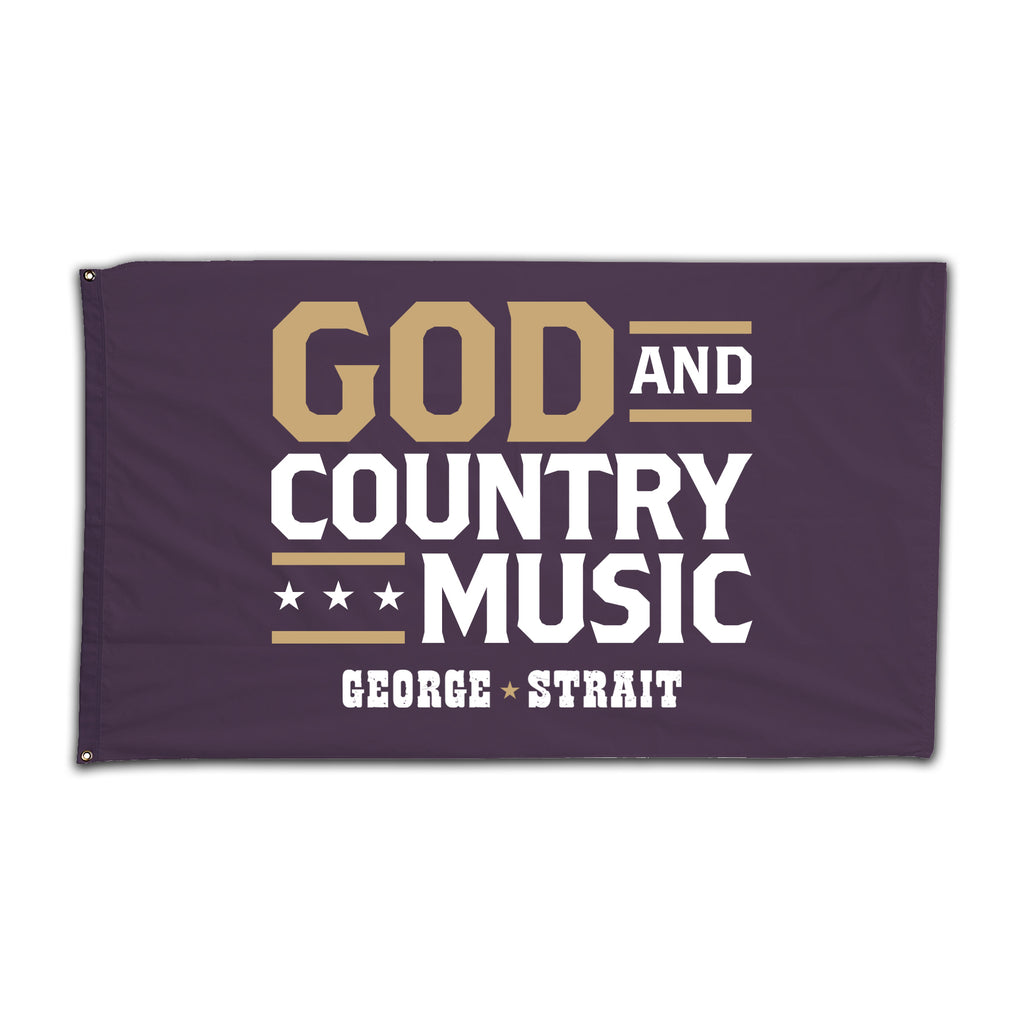 George Strait - God & Country Music Flag