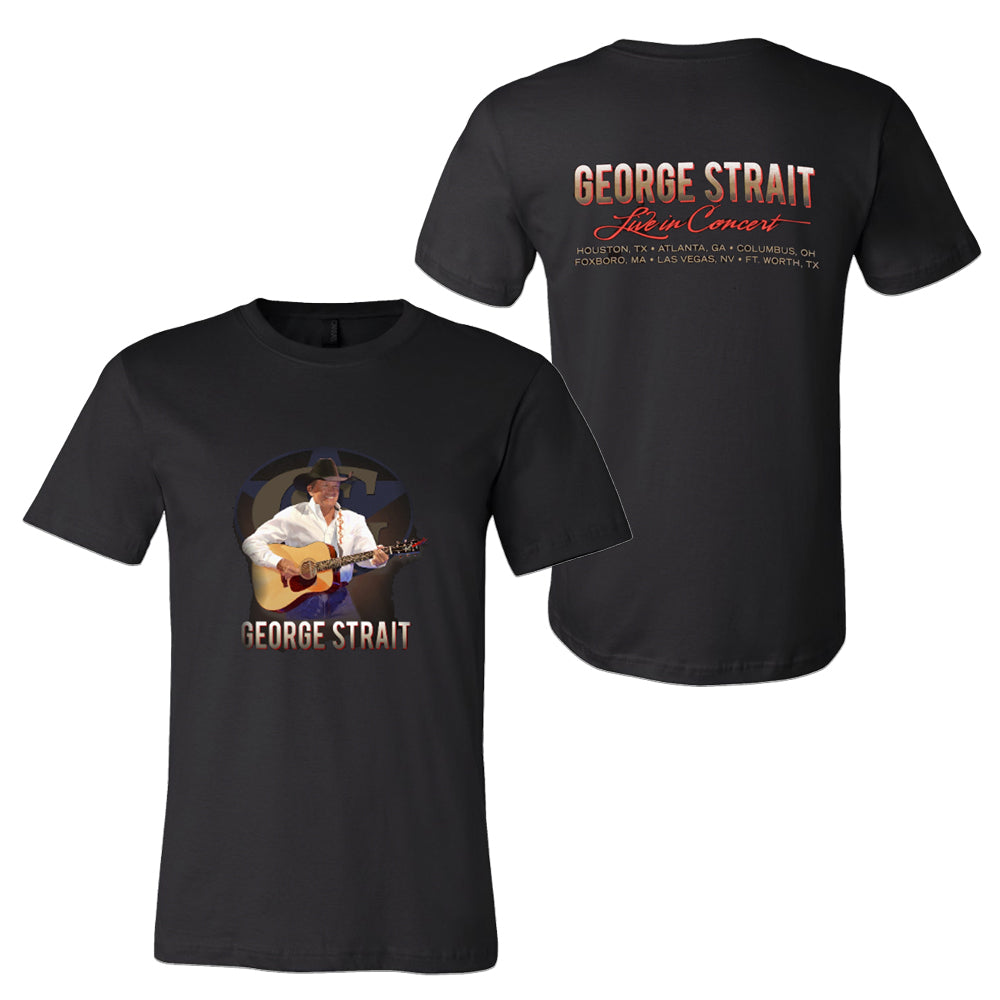 George Strait - 2019 Black Live in Concert T-Shirt