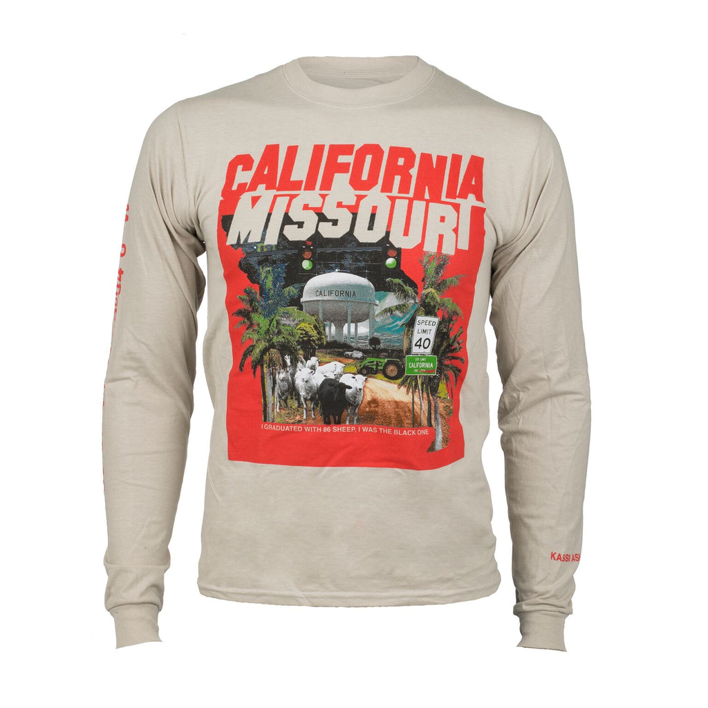 Kassi Ashton - California Missouri - Tan Long Sleeve Tee