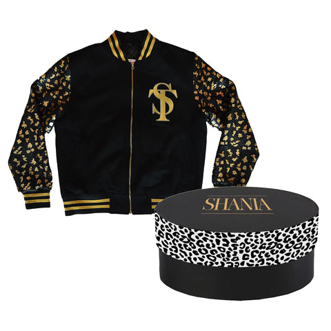 Shania Twain - Sequin Leopard Bomber with Hat Box
