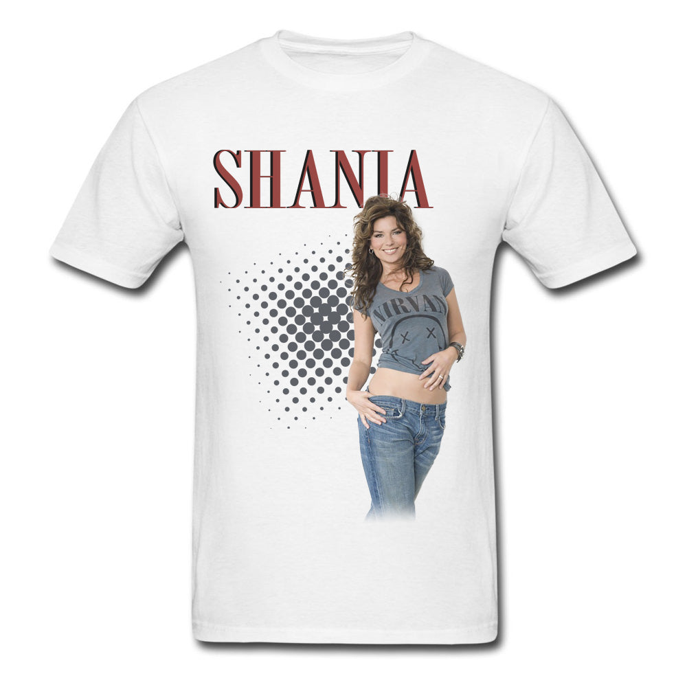 Shania Twain - Ladies Vintage White T-Shirt