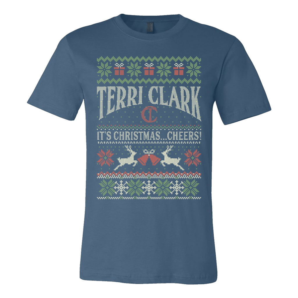 Terri Clark - It's Christmas...Cheers! Ugly Christmas T-Shirt