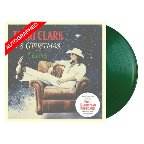 Terri Clark It's Christmas...Cheers! (Vinyl-Autographed)