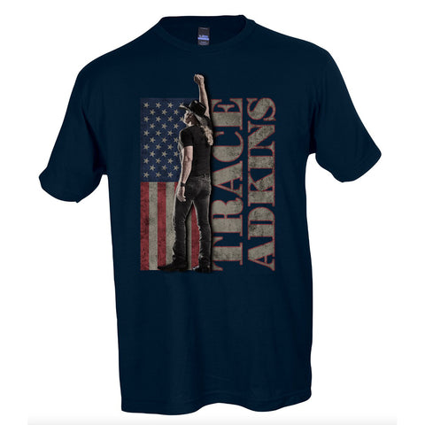 Trace Adkins - American Flag Photo (T-Shirt)