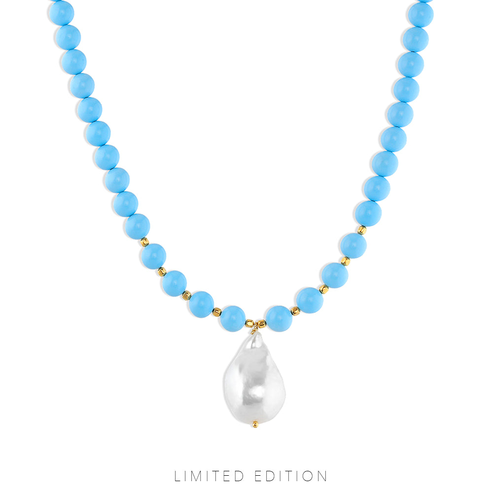 Blueberry Pearl Necklace