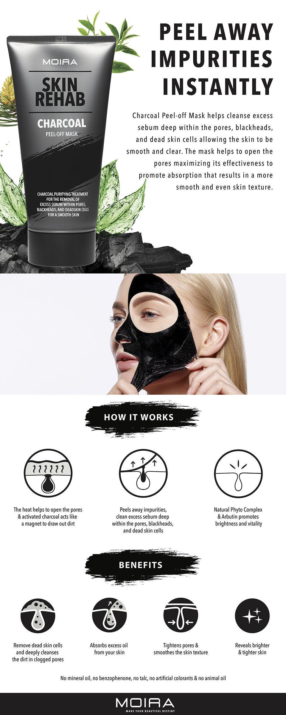 MOIRA Skin Rehab Charcoal Peel-Off Mask