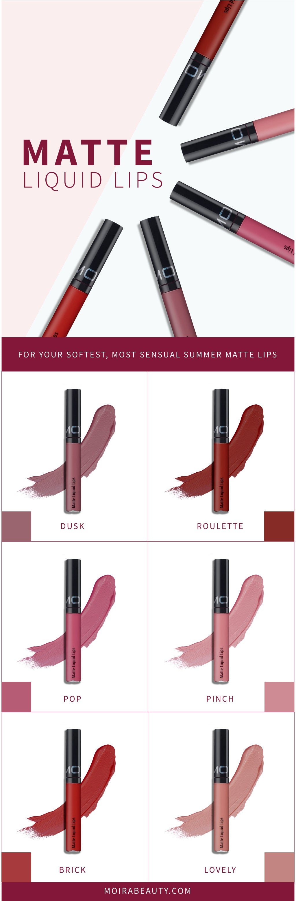MOIRA matte liquid lips