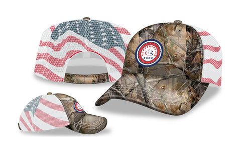 Camo-Flag Mesh Back Cap