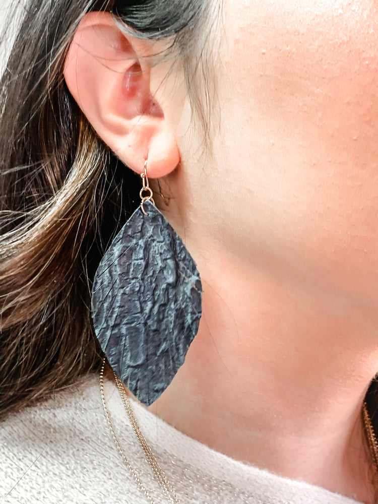 Fringed Leather Earrings