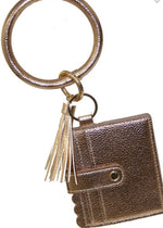 Scalloped Keychain Wallet
