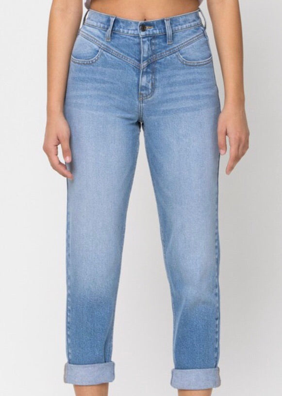 Cello High Rise Mom Jean