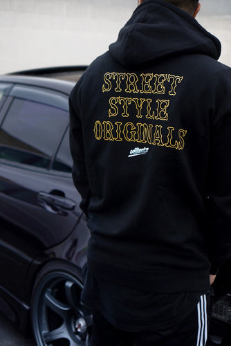 Street Style Hoodie - Hooded Sweatshirt - Black