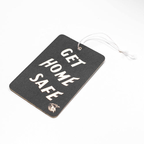 Air Freshener - Get Home Safe - Black/White