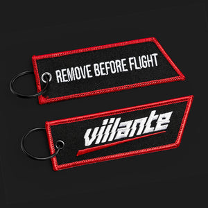 Flight Tag - Strike Logo - Red/White