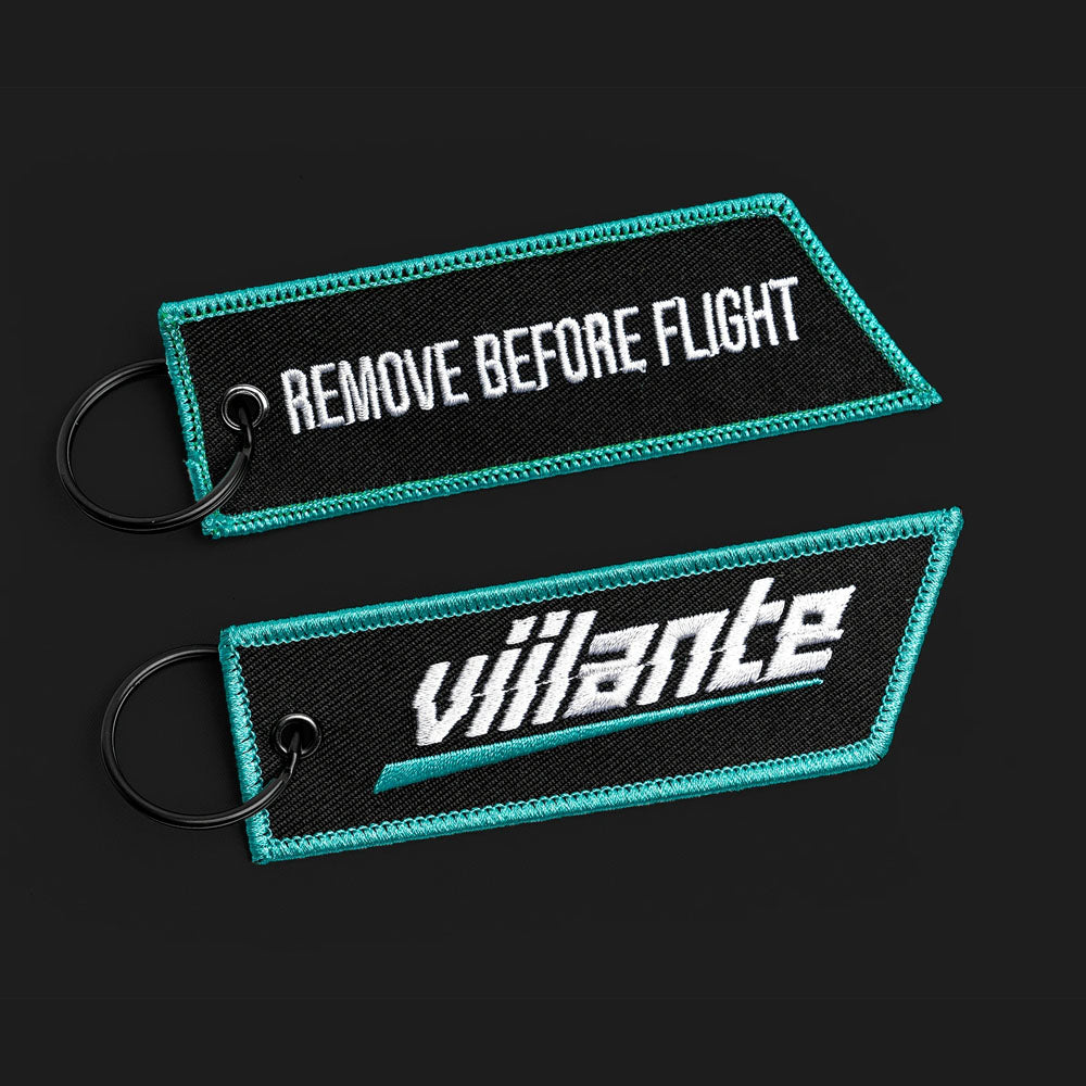 Flight Tag - Strike Logo - Teal/White