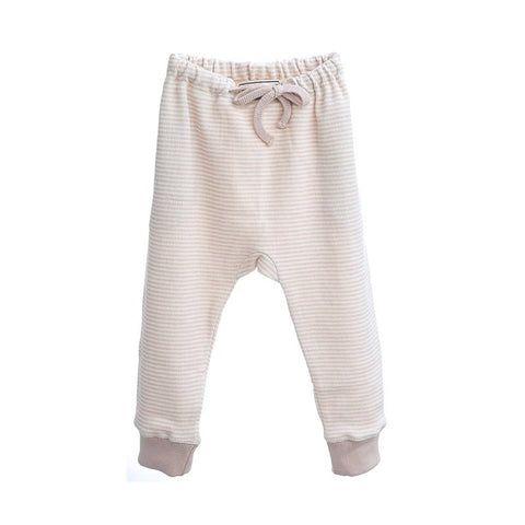OKKER-GOKKER - STRIBET JOGGINBUKSER (ROSE/WHITE)
