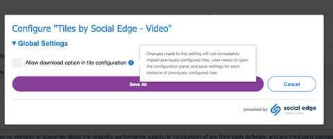 Screenshot of Video Setting