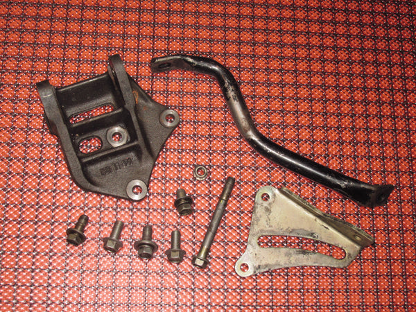1986-1988 Toyota Supra Turbo OEM Power Steering Pump Bracket & Bar