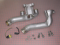 1990-1996 Nissan 300zx Twin Turbo OEM Radiator Upper & Lower Coolant Water Neck - Set