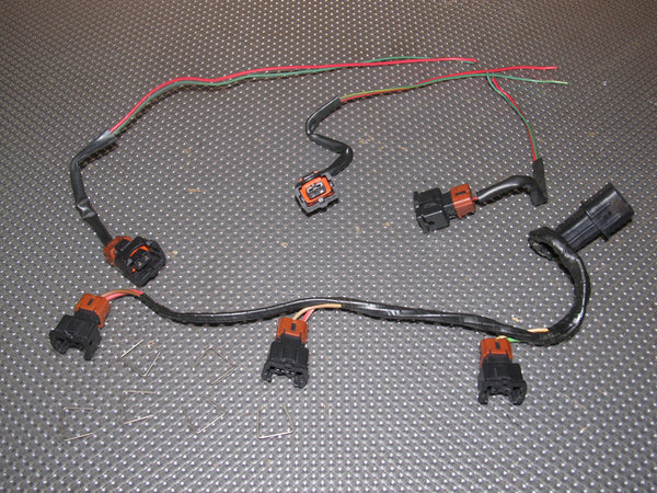94 95 96 97 Mitsubishi 3000GT NA OEM Fuel Injector Wiring ...  Gt Wiring Harness on obd0 to obd1 conversion harness, fall protection harness, engine harness, radio harness, amp bypass harness, suspension harness, dog harness, electrical harness, nakamichi harness, pony harness, maxi-seal harness, alpine stereo harness, oxygen sensor extension harness, safety harness, cable harness, battery harness, pet harness,