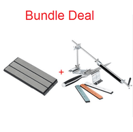 Professional Knife Sharpener with Extra Sharpening Stones Set - BUNDLE DEAL
