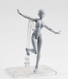 Body-Chan Body-Kun Grey Color Action Figure Collectible Model Toy