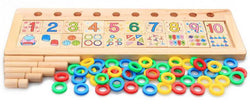 Children Wooden Montessori Learning To Count