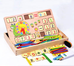 Multifunctional Montessori Wooden Building Blocks