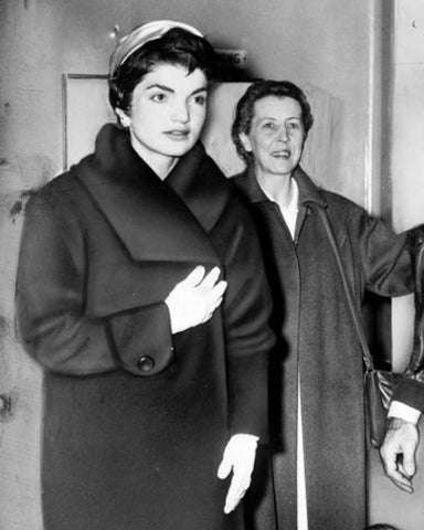Jackie Kennedy's Black Boucle Swing Coat