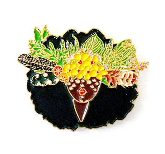 Queen of The Earth Gold Enamel Pin