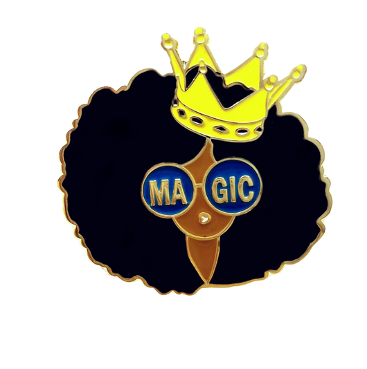 Black Girl Magic Gold Pin