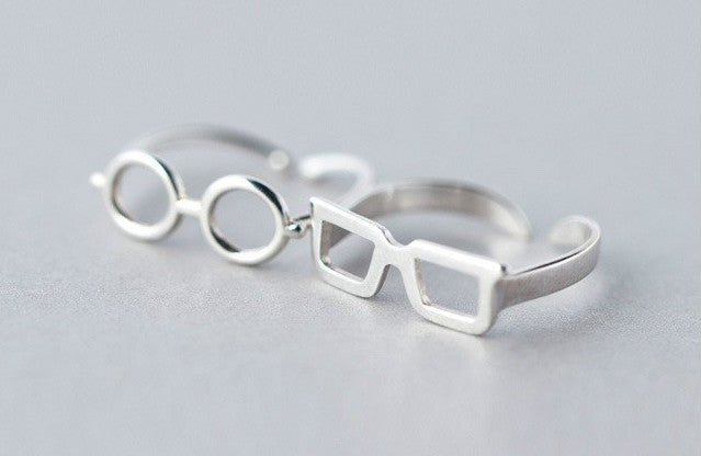 Sterling Silver Glasses Ring - Animal Ringdom