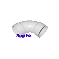 2 inch sweep elbows - White PVC