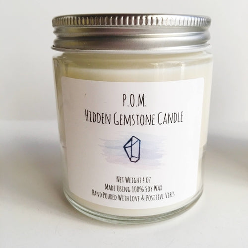 Hidden Gemstone Soy Wax All Natural Hand Poured