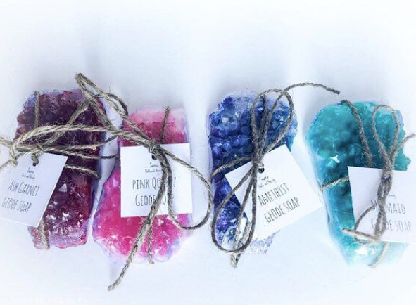 Handmade Vegan Geode Soap by Sierra Bath and Beauty