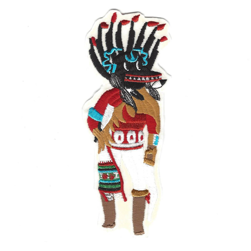 Black Ogre Sew-On Kachina Patch - Desert Gatherings