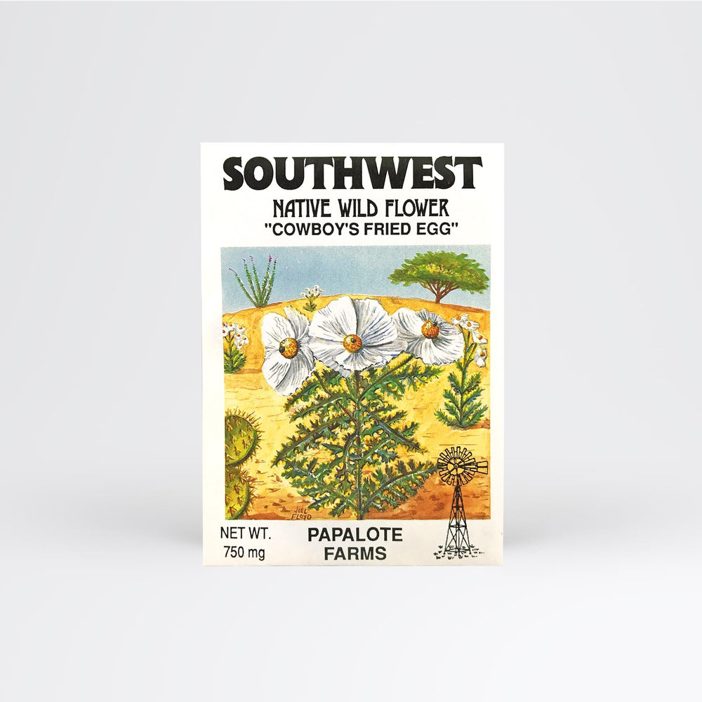 Southwest Cowboy Fried Egg Seed Packet - Desert Gatherings
