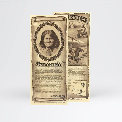 Geronimo Bookmark - Desert Gatherings