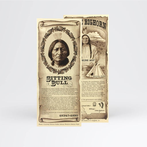 Sitting Bull Bookmark - Desert Gatherings