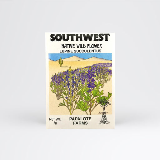 Southwest Lupine Succulentus Seed Packet