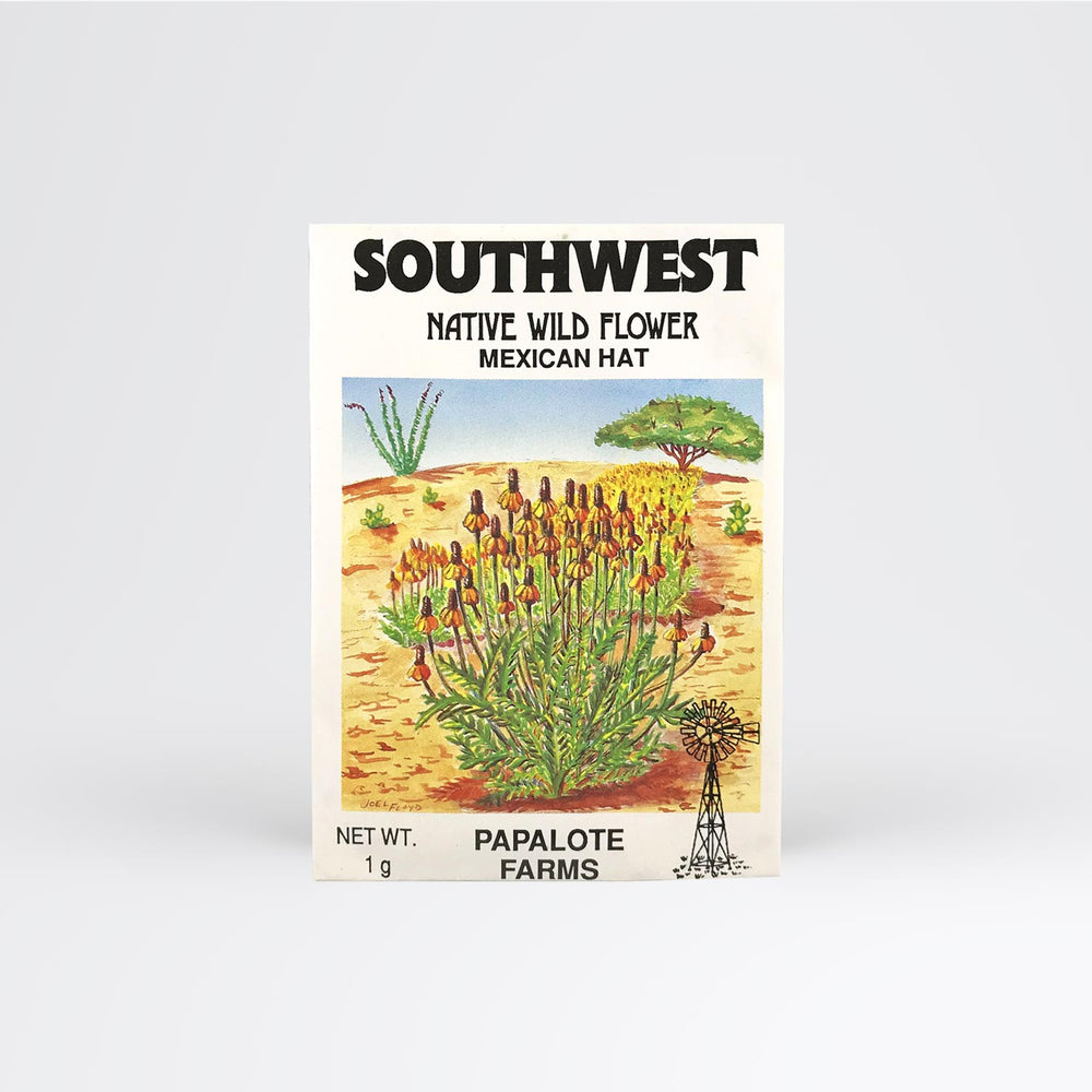 Southwest Mexican Hat Seed Packet - Desert Gatherings