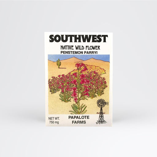 Southwest Penstemon Parryi Seed Packet